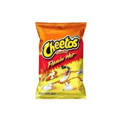 Cheetos Crunchy Flamin' Hot Cheese Flavored Snacks 9 oz ($1) ❤ liked on Polyvore featuring food and food and drink