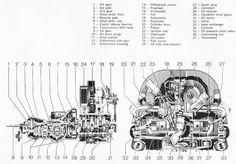 VW Beetle engine blueprint - 3D CAD model - GrabCAD