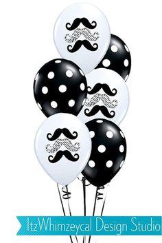 Little Man Mustache Birthday Balloons - Set Of 12 on Etsy, $10.00
