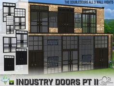 Sims 4 CC's - The Best: Industry Build: Doubledoors by BuffSumm