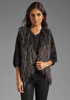 LADAKH Wooly Heights Faux Fur Vest in Multi at Revolve Clothing