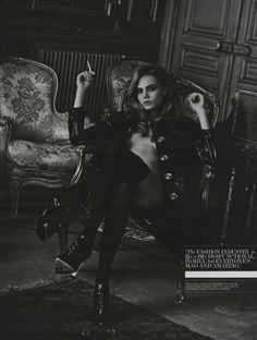 Cara Delevingne by Peter Lindbergh for Interview