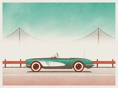 "The dudes at DKNG just released an awesome tribute to their second-favorite city in California. ""San Francisco"" is an 18″ x 24″ screenprint, has an open edition, and costs $25. Visit DKNGStudios.com."