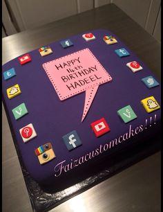 Social media cake!!