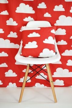 Swedish Scandinavian Farg & Form Kids Clouds fabric by Andshine