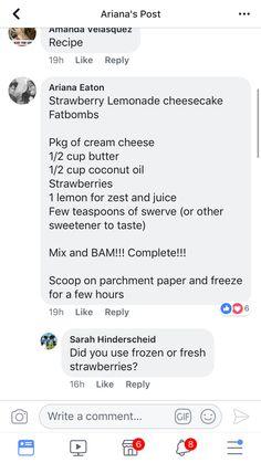 Keto Dessert Easy, Strawberry Lemonade, Low Carb Keto, Cheesecakes, Keto Recipes, Cheesecake, Cherry Cheesecake Shooters, Strawberry Limeade