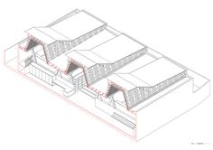 Gallery of Constitución Public Library / Sebastian Irarrázaval - 31 Axonometric Drawing, Roof Edge, Earthquake And Tsunami, Kids Library, Central Square, Architecture Graphics, Public, Gallery, Architectural Sketches