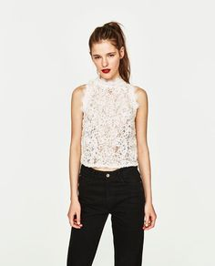 ZARA - COLLECTION AW/17 - LACE TOP