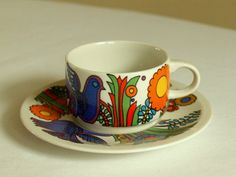 Villeroy and Boch. demitasse cup and saucer. by bestellevintage, $24.00