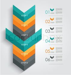 Stock vector ✓ 10 M images ✓ High quality images for web & print | Minimal infographics or Step banners template in Arrow style. Vector.