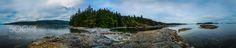 Panoramic view of Salt Spring Island in B.C. Cananda by carpentrysandl