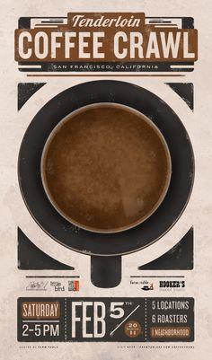 coffee crawl. tenderloin, sf.