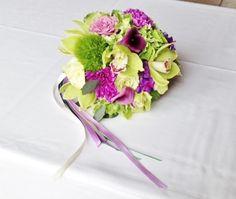 Bouquet de mariée inspiration asiatique