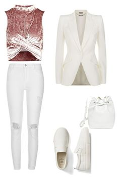 """Untitled #23"" by elkaa993 on Polyvore featuring Topshop, River Island, Gap, Mansur Gavriel and Alexander McQueen"