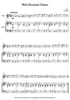 Wild Mountain Thyme Bagpipe Sheet Music - Www imagez co