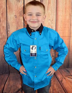 $14.99! more sizes too! ROPER Boys SHIRT Western BLUE TWILL BUTTON FRONT Cowboy  NWT Youth SMALL 5/6 #ROPER