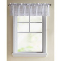 Better Homes and Gardens Lace Vines Kitchen Valances White - TEH-VLC-5415-WD-WH