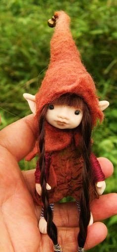 sweet tiny ooak posable 4 inch fairy fairie by throughthemagicdoor on Etsy