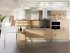 Kitchen:Beautiful Kitchen Design Idea Modern Home Kitchen Design Ideas With Open Kitchen Decoration With Grey Flooring Also Panel Appliances In Cabinetry