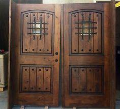 buying double exterior front doors   Double-Front-Entry-Doors-Exterior-Knotty-Alder-Rustic-French-Door-2-32 ...