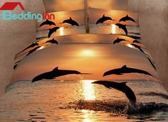 Strong and Vigorous Dolphin in the Setting Sun 4 Piece Cotton Bedding Sets Buy link>>>http://urlend.com/RzEJvaR Discover more>>>http://urlend.com/7RvMzaI Live a better life, start with Beddinginn http://www.beddinginn.com/product/Strong-And-Vigorous-Dolphin-In-The-Setting-Sun-4-Piece-Cotton-Bedding-Sets-10489981.html