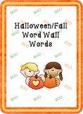 October Fall Pocket Chart Words Word Wall