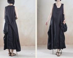 women's  flax Sexy Casual  boho  Linen cotton Maxi by swanstore, $69.99