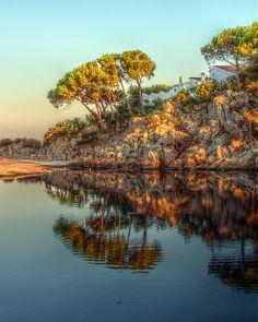 Sunset on Rio Sos Alinos, Sardinia, Italy