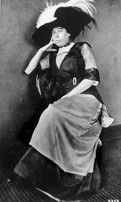 """Margaret """"Molly"""" Brown: philanthropist, women's/human rights activist and survivor of the sinking of the RMS Titanic.    This badass had to be forced into a lifeboat by three men after she kept giving up her seat for others. Once in the lifeboat she reportedly picked up an oar and gave one of the surviving engineers her coat."""