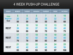 30 day pushup challenge
