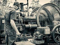 Antique gas engine