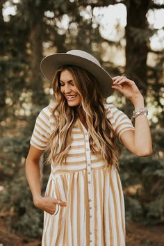 Café Stripe Dress | ROOLEE