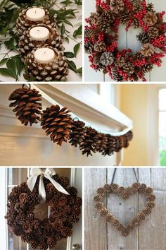 Building And Installing Diy Concrete Countertops Easy Pine Cone ProjectsChristmas Pine Cone Crafts Ideas - DIY Pinecone Decor Ideas for Winter SeasonGet ready for the holiday season with some festive pine cone craft inspiration. Pine Cone Art, Pine Cone Crafts, Christmas Projects, Holiday Crafts, Christmas Wreaths, Christmas Crafts, Christmas Decorations, Pine Cone Wreath, Christmas Tree