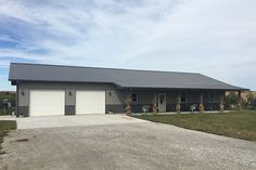 Visit the Lester Buildings Project Library for pole barn pictures, ideas, designs, floor plans and layouts. Morton Building Homes, Metal Building House Plans, Steel Building Homes, Pole Barn House Plans, Dream House Plans, Building Art, Cabin Plans, Metal Barn Homes, Pole Barn Homes