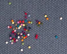 boy-girl-tepper-nettbutikk.sukhi Black And Grey Rugs, Dark Grey, Stone Rug, Braided Wool Rug, Felt Ball Rug, Patchwork Rugs, Rug Material, Rectangular Rugs, Color Blending