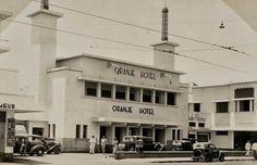 1930's - Soerabaja, Hotel Oranje (jaman Belanda) atau Hotel Yamato (jaman Jepang). Saksi sejarah perobekan bendera Belanda oleh arek2 Suroboyo. Sekarang menjadi Hotel Majapahit, salah satu hotel mewah di kota Surabaya.