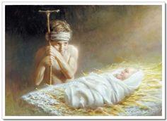 The Shepherd keeps watch over the baby Jesus