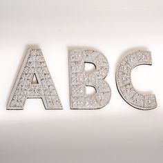 Small wall hanging metal pressed letters