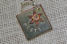 Personalized Pet ID Tag, Lily, Dog Tag, Cat Tag, Metal Tag, Swarovski Crystal by…