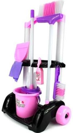 Velocity Toys Little Helper Cleaning Trolley Cart Children's Kid's Pretend Little Girl Toys, Baby Girl Toys, Toys For Girls, Kids Toys, Toddler Toys, Cleaning Toys, Brush Cleaning, Cleaning Cart, Cleaning Supplies