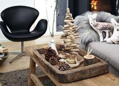 Deco navideña con detalles simples y naturales #Decoracion #Navidad #HomeDecor #Christmas