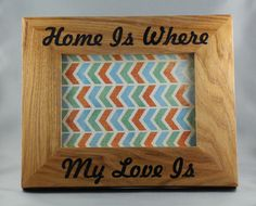 Message Picture Frame by Woodblends on Etsy