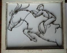 Águila  arte de alambre de púas por BarbedWireDesignz en Etsy