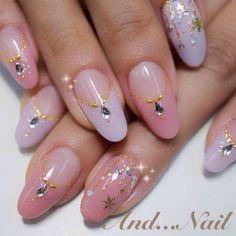 Pretty Nail Art, Cute Nail Art, Cute Nails, Japanese Nail Design, Japanese Nails, Les Nails, Korean Nail Art, Kawaii Nails, French Tip Nails