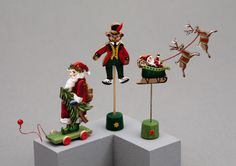 Karen Markland offers charming hand-painted Christmas collectibles as part of her line