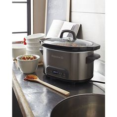 Calphalon® 4 qt. Slow Cooker in Specialty Appliances | Crate and Barrel