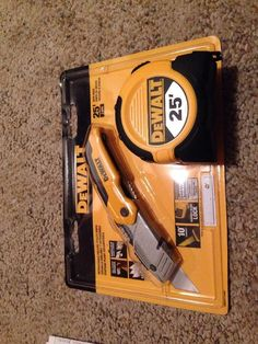 New Dewalt $30Combo 25' Tape Measure And Retractable Folding Utility Knife Warr in Measuring Tapes & Rulers | eBay