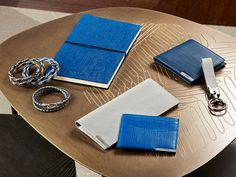 A winter palette for Tod's leather accessories with a textile flair, paired with…