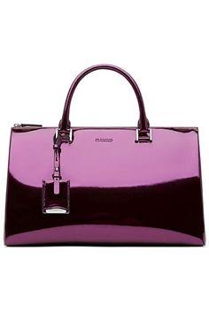 Jil Sander 2014 Fall-Winter purple patten leather handbag. www.misskrizia.com