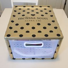 Big Little Reveal Week - Day 2 - Box for Deliveries Kate Spade inspired storage box